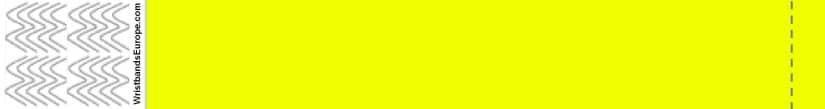Plain Neon Yellow Wristband – Yellow Coloured Wristbands