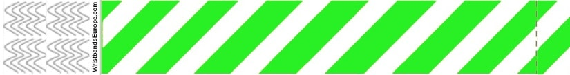 Plain Stripey Green Wristbands – Green Stripey Wristbands