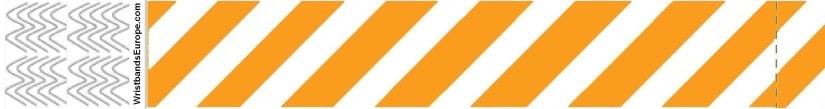Plain Stripey Orange Wristbands – Orange Stripey Wristbands