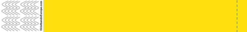 Plain Yellow Wristband – Yellow Coloured Wristbands