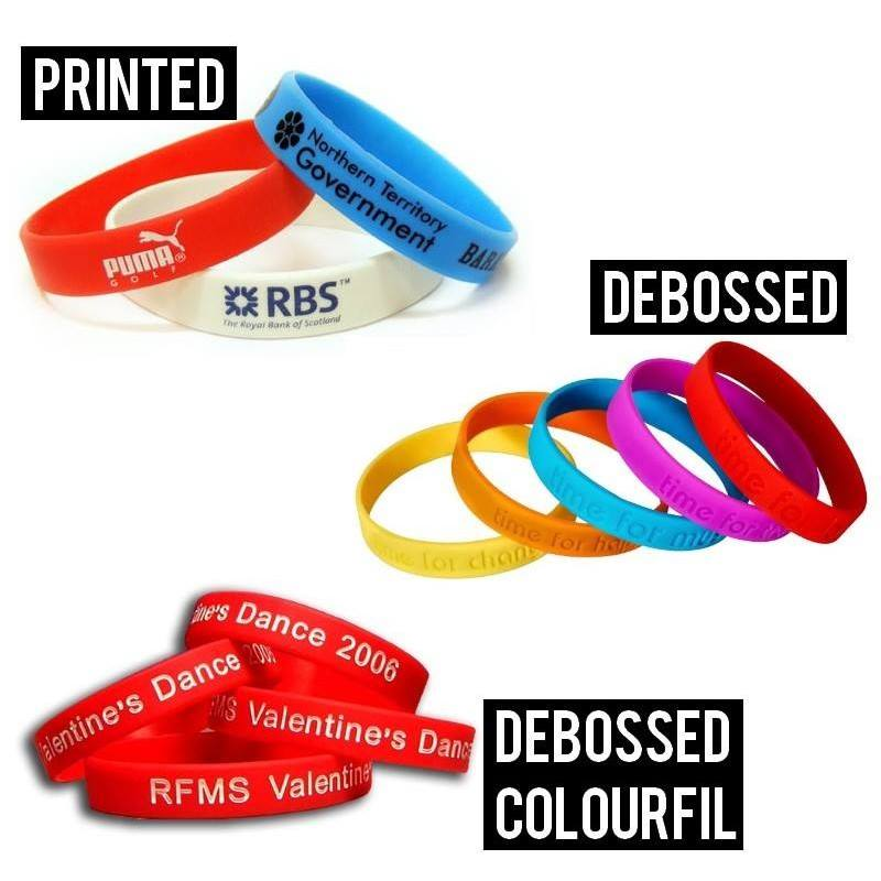 Printed Silicone Wristbands